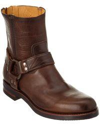 Frye - Clinton Harness Backzip Leather Boot - Lyst