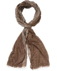 John Varvatos - Collection Printed Fringed Scarf - Lyst