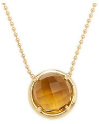 Rina Limor - 18k Gold & Smokey Topaz Necklace - Lyst