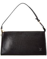 Louis Vuitton - Black Epi Leather Pochette Accessoires - Lyst