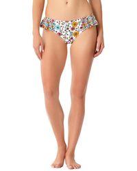 Anne Cole - Flounce Bikini Bottom - Lyst