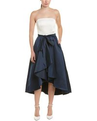 Shoshanna - Allene Strapless High-low Gown W/ Bow Waistline - Lyst