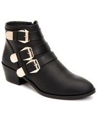 Taryn Rose - Samantha Lux Leather Bootie - Lyst