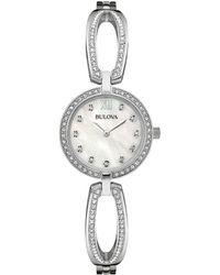 Bulova - Swarovski Crystal And Stainless Steel Bangel Watch, 96l223 - Lyst
