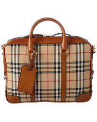 Burberry - Newburg Horseferry Check Briefcase - Lyst
