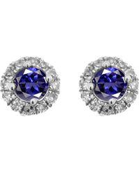 Meira T - 14k 0.18 Ct. Tw. Diamond & Iolite Earrings - Lyst