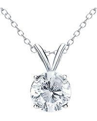Diana M. Jewels - . Fine Jewellery 18k 0.50 Ct. Tw. Diamond Necklace - Lyst