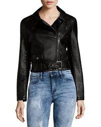 Joe's - Joe''s Zip Faux Leather Moto Jacket - Lyst