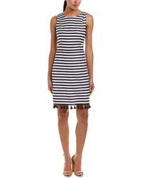 Eliza J - Linen-blend Shift Dress - Lyst