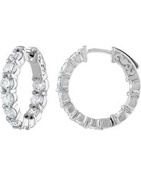 Diana M. Jewels - . Fine Jewelry 18k 4.20 Ct. Tw. Diamond Hoops - Lyst