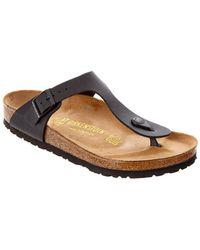 Birkenstock - Gizeh Birko-flor Leather Sandal - Lyst