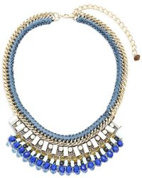 Nocturne - Anika Crystal Statement Necklace - Lyst