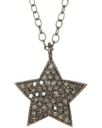 Adornia - Shira Star Silver 0.40 Ct. Tw. Diamond Necklace - Lyst