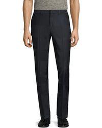 Paul Smith - Wool Striped Flat Front Trouser - Lyst