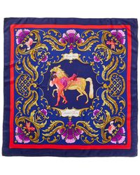 "Hermès - ""cheval Turc"" By Christiane Vauzelles Silk Scarf - Lyst"