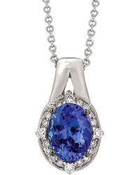 Le Vian - ® 14k 1.11 Ct. Tw. Diamond & Tanzanite Necklace - Lyst