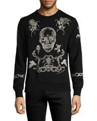 Alexander McQueen - Printed Cotton Sweatshirt - Lyst