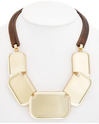 Lafayette 148 New York - Lucite Geometric Necklace - Lyst