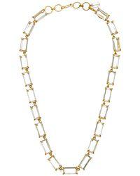 Bounkit - 14k Plated Clear Quartz Necklace - Lyst