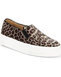 Charlotte Olympia - Leopard-print Platform Sneaker - Lyst