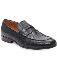 Saks Fifth Avenue - Embossed Leather Loafer - Lyst