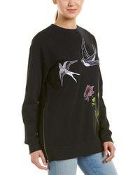 Ei8ht Dreams - Ei8ht Dreams Embroidered Sweatshirt Tunic - Lyst