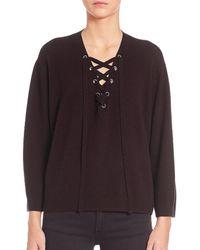 The Kooples - Solid Wool Sweater - Lyst