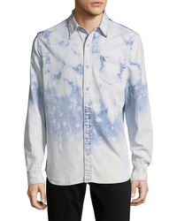True Religion - Spread Collar Sportshirt - Lyst