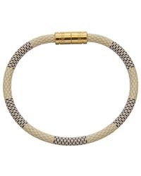 Louis Vuitton - Damier Azur Canvas Keep It Bracelet - Lyst