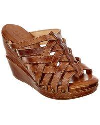 Bed Stu - Josie Leather Wedge Sandal - Lyst