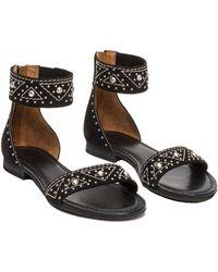 Frye - Carson Deco Zip Leather Sandal - Lyst