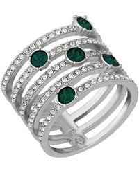 Swarovski - Crystal Creativity Plated Ring - Lyst