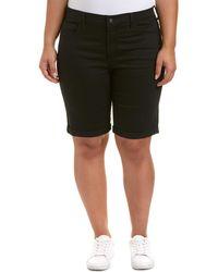 NYDJ - Plus Briella Black Short - Lyst