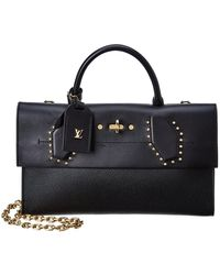 Louis Vuitton - Black Leather Pochette Steamer - Lyst