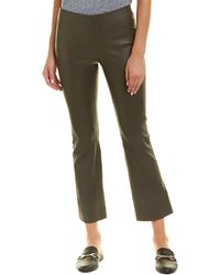 Vince - Leather Flare Pant - Lyst
