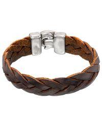 Uno De 50 - Unode50 Ia Silver Plated Leather Bracelet - Lyst
