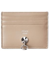 Fendi - By The Way Leather Card Case - Lyst
