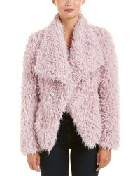 Betsey Johnson - Betsy Johnson Fuzzy Coat - Lyst