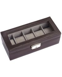 Royce - Luxury 5 Leather Watch Display Case - Lyst