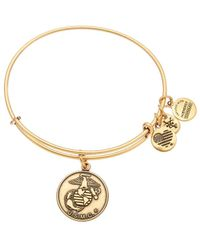 ALEX AND ANI - Armed Forces Us Marine Expandable Bracelet - Lyst