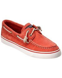 Sperry Top-Sider - Bahama Washed Leather Boat Shoe - Lyst