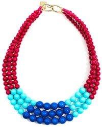 Zenzii - Color Splash Layered Resin Collar Necklace - Lyst