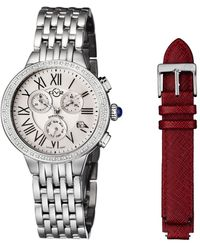 Gv2 - Astor Chrono Diamond Watch With Interchangeable Strap - Lyst