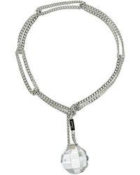 Baccarat - Facettes Silver Crystal Bracelet - Lyst