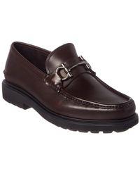 Ferragamo - Gancio Bit Leather Moccasin - Lyst