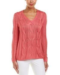Lafayette 148 New York - Cable-knit Silk-blend Jumper - Lyst