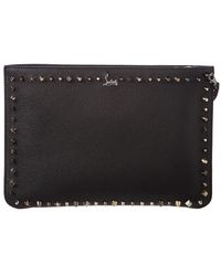Christian Louboutin - Loubiclutch Spiked Leather Clutch - Lyst