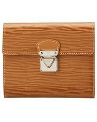 Louis Vuitton - Brown Epi Leather Koala Wallet - Lyst