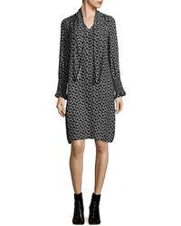 Rebecca Taylor - Rue Silk Floral-print Dress - Lyst