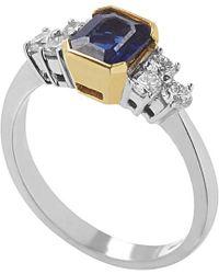 Damiani - 18k Two-tone 1.77 Ct. Tw. Diamond & Sapphire Ring - Lyst